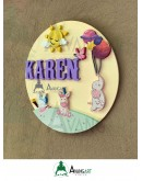 Bebek Kapı Süsü - Tavşan ve Balonlar