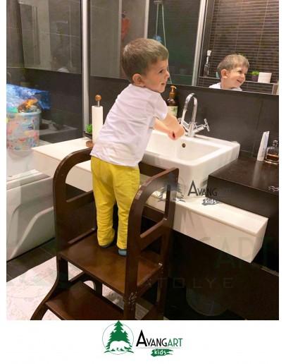 Montessori Öğrenme Kulesi - Kahverengi